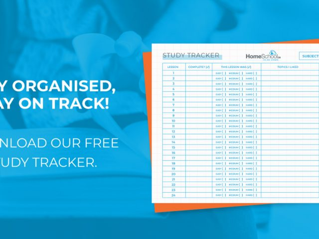 Free Downloadable Study Tracker from Homeschool.ie
